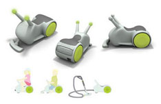 Buster concept vacuum cleaner for kids