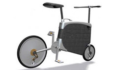 Bike folds itself into a suitcase