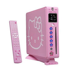 Hello Kitty DVD player in pink