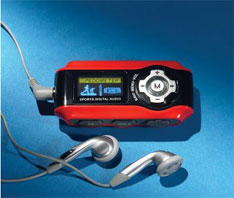 MP3 player with pedometer and radio