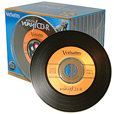 Vinyl CD-Rs from Verbatim