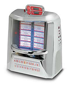 Vintage Tabletop MP3 Jukebox