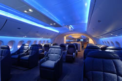 Boeing 787 Dreamliner oozes with luxury