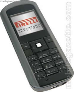 Pirelli's GSM/WiFi Dual-Mode cellphone launched in Stockholm
