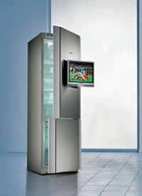 Siemens fridge freezer comes with LCD TV