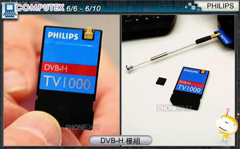 Philips SDIO TV1000/TV1100 DVB-H Tuner Card