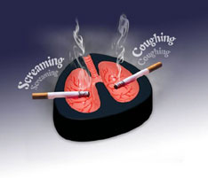 Coughing Ashtray deters smokers
