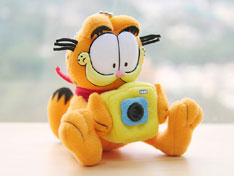 Garfield plush webcam up