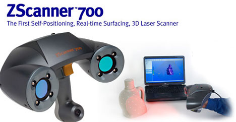 ZScanner 700 does 3D scans