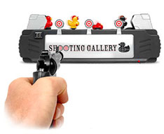 Duck Shooting Gallery on your desk
