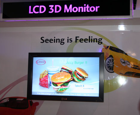 LG Flatron M4200D offers 3D view