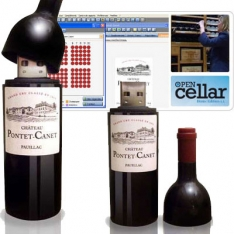 Wine Bottle USB Drive w/ Wine Tracking Software