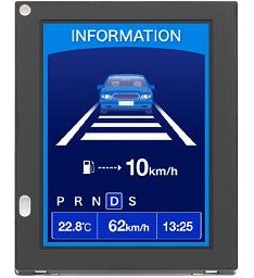 Hitachi LED display for in-car use