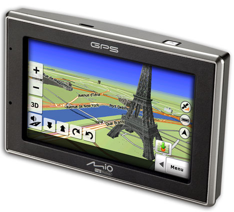 Mio C620 GPS features 3D graphics