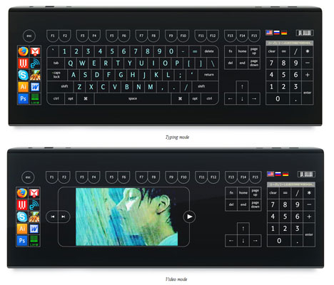 Optimus Tactus Keyboard Based On a Touch Display