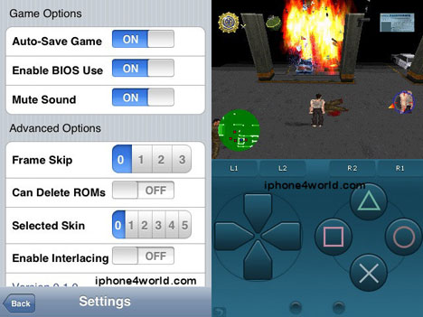 PSX4iPhone – iPhone PSX Emulator 0.1 (Video)