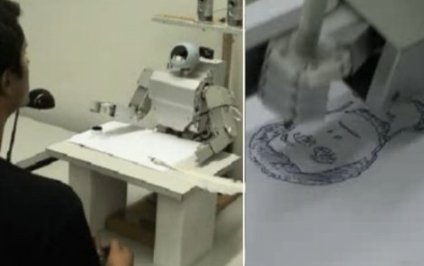 Robot can draw portraits now