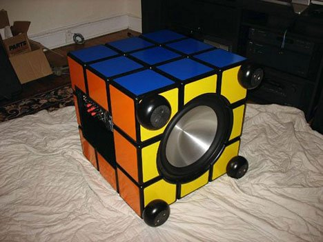 Puzzling speaker pumps out music