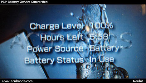 Power your PSP with AAA batteries