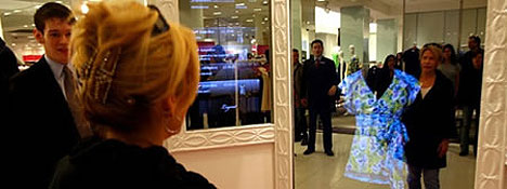Virtual mirror to replace changing rooms