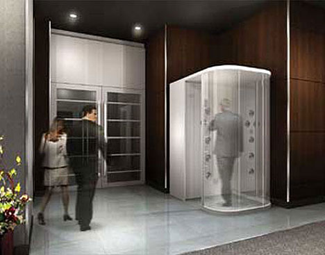 Manner Jet gives employees an air shower