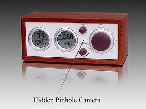 Hidden Camera Spy Clock