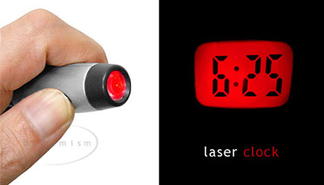 Laser Clock projects time