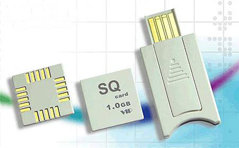 SQ flash memory card unveiled