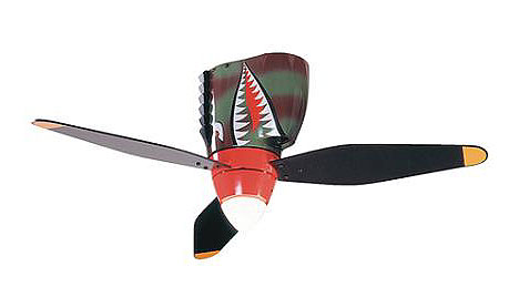 P-40 Sharkmouth nose ceiling fan