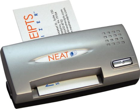 NeatReceipts gobbles business cards