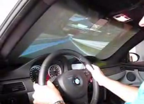 BMW M3 simulator in a real M3