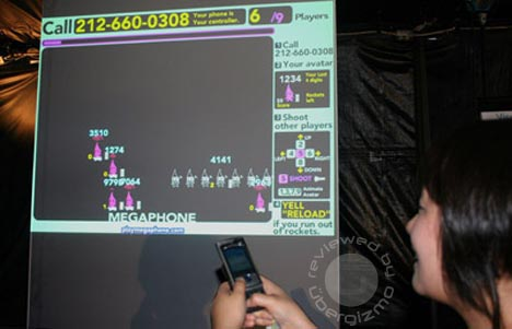 Megaphone: turn any mobile phone into a game controller