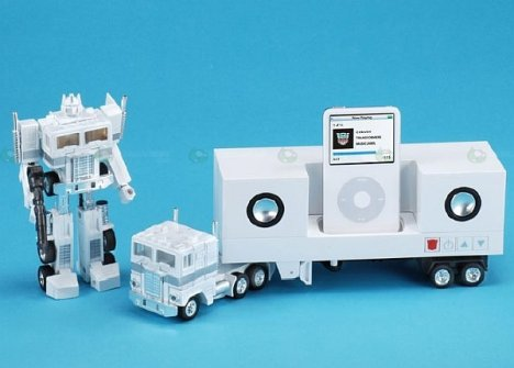 Optimus Prime grooves to your iPod