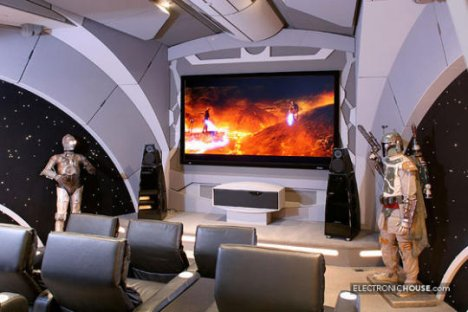 Star Wars home theater, literally