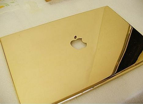 MacBook Pro plated in gold