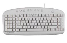 Left-handed multimedia keyboard