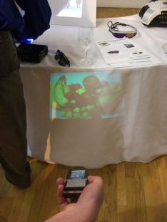 Cellphone projector on parade