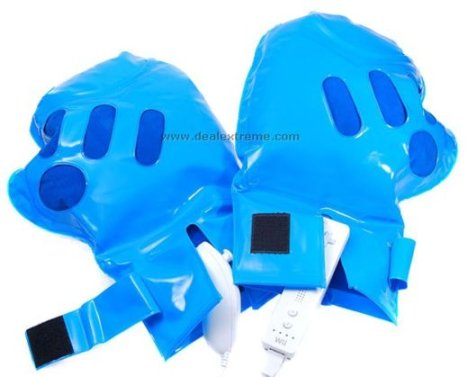 Inflatable boxing gloves for the Wii