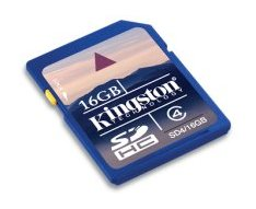 Kingston Launches 16GB Class 4 SDHC Card