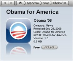 Obama Application For iPhone/iPod touch