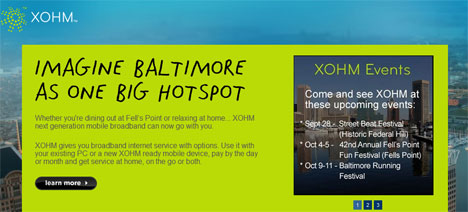 Sprint, Intel WiMax party in Baltimore - quick facts