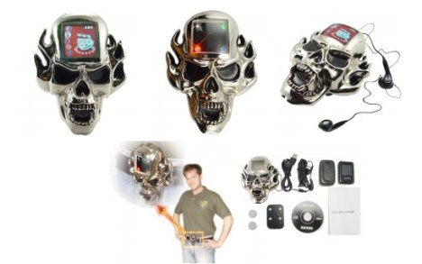 Skull Belt Buckle Plays MP3s