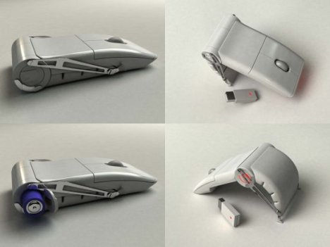 Concept Clamshell Mouse
