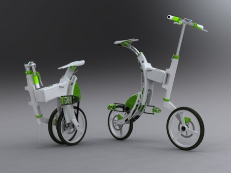 Concept Electric Folding Bike