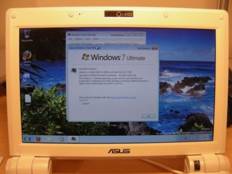 Windows 7 Fonctionnant Sur Asus Eee PC 900