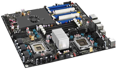 Intel Dual Quad-Core D5400XS Skulltrail Motherboard is Available