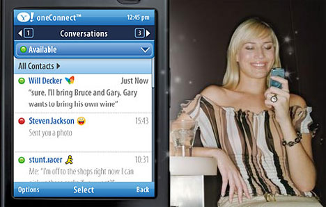 Yahoo oneConnect: Communications and Social Networking in your Pocket