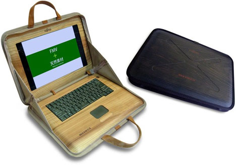 Wooden Laptop Concept by Fujitsu