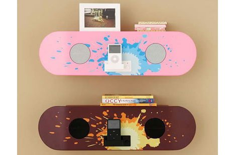 Skateboard Speaker Shelf