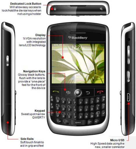 Features of BlackBerry Javelin